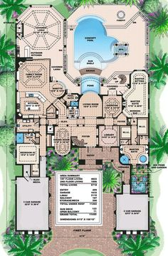 Luxury Floor Plans flr_lrgmli230flr1_600 luxury home designs and floor plans home and landscaping design on home floor plans luxury Plan 66191we Captivating Mediterranean Design
