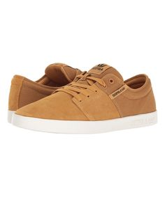 Amber Gold & White Stacks II Suede Sneaker - Men