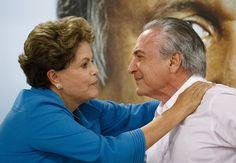 Dilma Roussef e Michel Temer em encontro de campanha do governador do Rio, Luiz Fernando Pezão