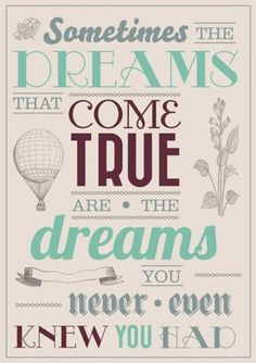 Because we do have so many hidden dreams.