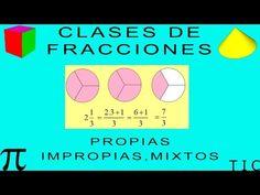 CLASES DE FRACCIONES: PROPIAS, IMPROPIAS Y MIXTOS - YouTube Youtube, Chart, Math, Color, Improper Fractions, Nutrition Activities, School Supplies, Index Cards, School