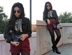 Leopard Bow (by Sharena C.) http://lookbook.nu/look/4227675-Leopard-Bow