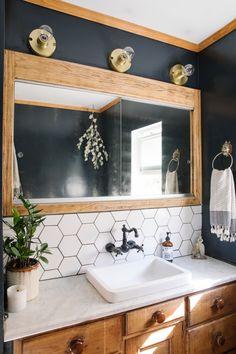 Boho Bathroom, Bathroom Renos, Bathroom Interior, Bathroom Ideas, Bathroom Organization, Bathroom Cabinets, Bathroom Renovations, Master Bathrooms, Remodel Bathroom