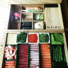 @nobuwaikiki - Why not have Nobu at your own home or party? Get our Sushi Hand Roll Box! It comes with everything you need to make hand rolls. @nobuworldwide #nobu #nobuwaikiki #handroll #hawaiisbestkitchens #