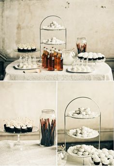 White Dessert Table: perfect for a baby blessing