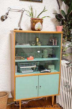 85 veces he visto estas radiantes muebles vintage. 60s Furniture, Upcycled Furniture, Furniture Makeover, Painted Furniture, Vitrine Vintage, Upcycled Home Decor, French Decor, Room Decor, Decor Diy