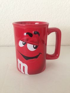 M & M Candy Collectible Red Eyes Coffee Tea Mug Cup