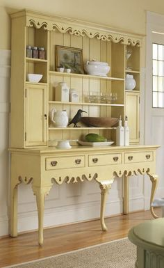 Isn't this the most gorgeous hutch? I'd love it in a cream or linen color....maybe pink?