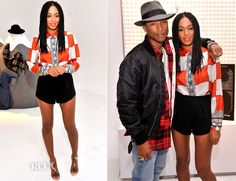 Solange Knowles in Etro Spring 2014 blouse and Clover Canyon shorts, via Red Carpet Fashion Awards