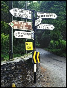 """""""Ireland Countryside - RoadSigns"""" by Foronin on Flickr - Ireland Countryside - RoadSigns"""