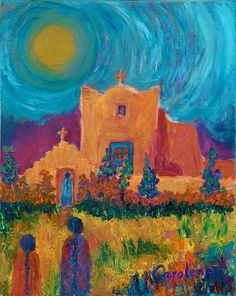 <3 Gorgeous colors of New Mexico - oil by ©Carolene of Taos (via FineArtAmerica)