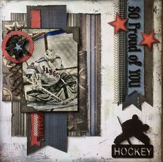 Hockey Scrapbook Layout with Charlene Byrd. For more information on this project, visit: http://southernchipboard.blogspot.ca/2017/01/hockey-scrapbook-layout-with-charlene.html. To order this amazing chipboard, visit: www.chipboard.ca