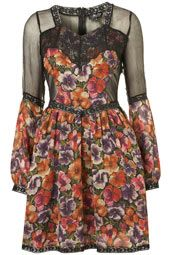 Floral and Lace Mix Dress