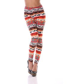 Take a look at this Red & Orange Leggings on zulily today!