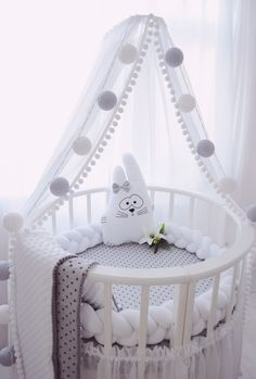 Baby girl room - Mollie and Lola - Baby girl room – Mollie and Lola bebe naissance … - Baby Bedroom, Baby Boy Rooms, Baby Cribs, Kids Bedroom, Room Baby, Girl Rooms, Nursery Room Decor, Girl Nursery, Nursery Ideas