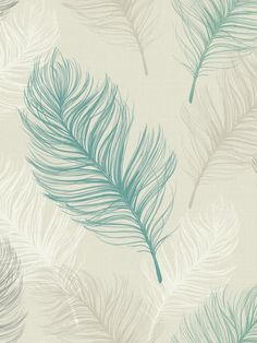 Arthouse Whisper Teal Wallpaper With unique designs and colours across a range of different styles, patterned wallpaper is ideal for creating a feeling of depth and texture that can't be replicated by simply painting a wall. On a soft beige background, this contemporary design features beautifully drawn feathers in a range of tones from pure, crisp white, through to intricately shaded teal. The oversized nature of each feather means this wallpaper will look wonderful as part of a stunning…