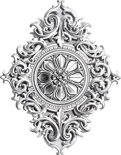 Antique Rosette Scrolls Ornament What about this for the centre of a quilt, especially doing the shadow with different coloured threads.