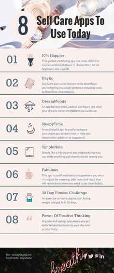 8 Self Care Apps To Use Today (Best Apps for Positive Thinking!) - self love + self care - 8 Self Care Apps To Use Today (Best Apps for Positive Thinking!) 8 Self Care Apps To Use Today (Best Apps for Positive Thinking! Self Care Bullet Journal, Meditation Apps, Bulletins, Self Care Activities, Care Quotes, Self Care Routine, Best Apps, Best Self, Self Development