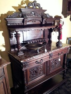 Beautiful French Server with marble.695.00