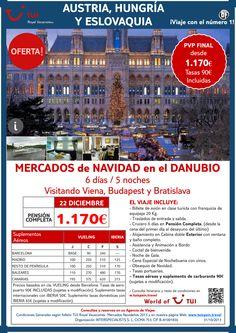 Oferta Austria, Hungría y Eslovaquia: Mercados de Navidad en el Danubio. Precio final desde 1.170€ ultimo minuto - http://zocotours.com/oferta-austria-hungria-y-eslovaquia-mercados-de-navidad-en-el-danubio-precio-final-desde-1-170e-ultimo-minuto/