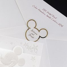 Disney Mickey Ears Wedding Seals