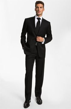 Canali black Wool Suit (Free Next Day Shipping) | Nordstrom