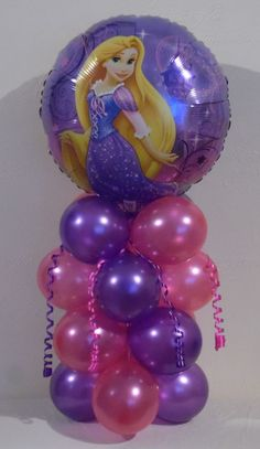 DISNEY PRINCESS - TANGLED - RAPUNZEL - FOIL BALLOON DISPLAY -TABLE CENTREPIECE in Home, Furniture & DIY, Celebrations & Occasions, Party Supplies | eBay