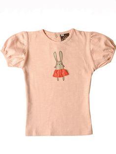 Ideo Bunny Ballerina Organic Cotton Tee
