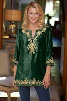 Venetian Velvet Tunic I from Soft Surroundings