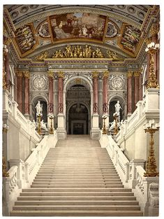Vienna opera house. Would love to spend Christmas in Vienna and attend the Opera in a horse drawn sledge :-)