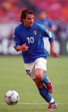 Alessandro Del Piero en la Euro 2000, ojo a los Predator