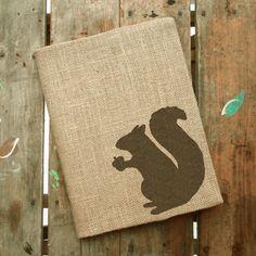 Woodland Eichhörnchen Sackleinen Journal von nextdoortoheaven