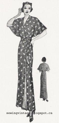 The Vintage Pattern Files: 1930's Sewing - Magic Reversible Kimono