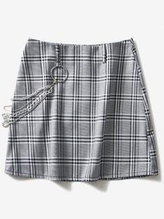 293e43439  36% OFF   HOT  2019 Curb Chain Mini Checkered Skirt In MULTI
