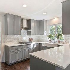 Grey Kitchen Cabinets (20)