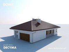 Projekt domu Decyma to nowoczesny parterowy dom spełniający wymogi 4 - 5-osobowej rodziny. Szczegóły na: http://www.domywstylu.pl/projekt-domu-decyma.php