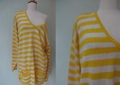 Oversize Brenda Sweater // 1980's Off Shoulder by KittyHawVintage, $36.00