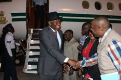 Former President Dr. Goodluck Jonathan arrives Zambia for Election duty. Leader of the African...