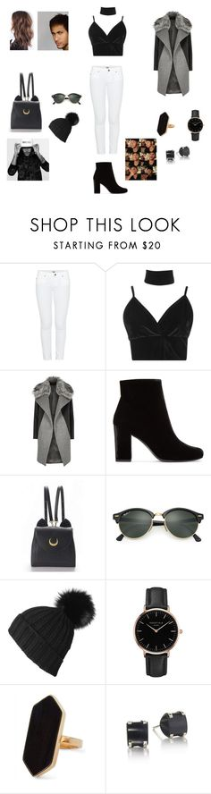 """""""Neymar Jr."""" by carolinestolen ❤ liked on Polyvore featuring Paige Denim, Boohoo, River Island, Yves Saint Laurent, WithChic, Ray-Ban, Black, Topshop, Jaeger and football"""