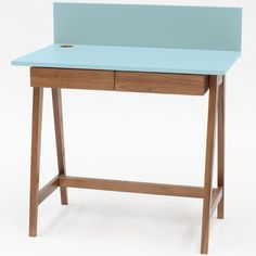 Luka Writing Desk 110cm Ragaba • WOO .Design Wooden Drawers, Study Space, Cable Management, Writing Desk, Foot Rest, Home Office, Table, Furniture, Design