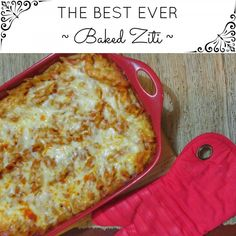 This Baked Ziti Recipe is the perfect meal for a busy weeknight. It's packed full of flavour and cheesy goodness! You won't be disappointed with this dish.