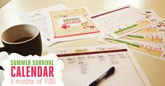 Are you ready for summer? Ready or not, it's almost here! Now you can take charge of your summer with my 2015 Summer Survival Calendar! You will be set with over 120 low cost and fun activities for your family from May - August - plus weekly supply lists to keep it simple and easy to prepare!  |  TheConfidentMom.com