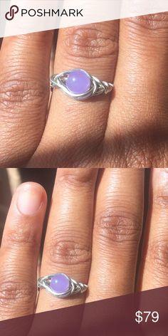 Dainty Lavender Ring - Size 7 Silver Perfect purple ring. Size 7 Minimalist Jewelry. Studio Berkeley Jewelry Rings