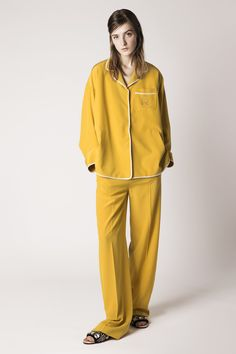 The Pajama Trend Is Back - Pajama Trend-Wmag-Showing no signs of slowing down, the style has already shown up in Rochas's Resort 2016 collection. Prepare to lounge, ladies.