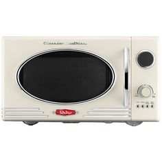 Wilko Retro Microwave Cream 23l At