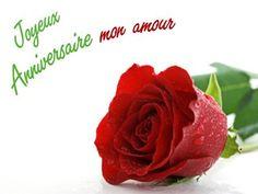 Joyeux Anniversaire mon amour Happy Birthday, Rose, Flowers, Marcel, Bb, Images, Gifs, Messages, Photos