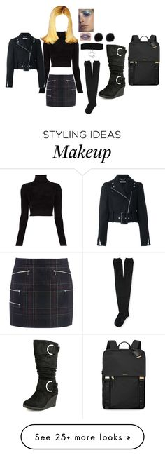 """""""Bratz (cloe) beauty in black"""" by nurserierhymes on Polyvore featuring Barbara Bui, A.L.C., Aéropostale, Top Moda, Givenchy, Tumi and Jeffree Star"""