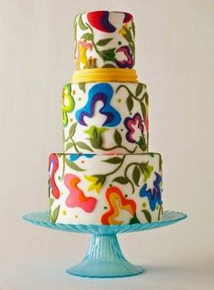 Wow! What a fun, different cake. #unique #cake #tastings #weddings