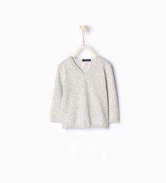 ZARA - KIDS - Knit sweater with v-neck