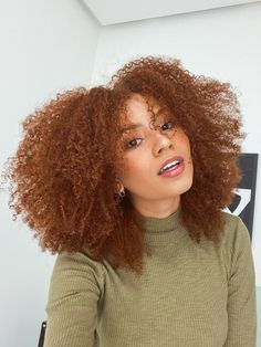 Black Girl Curly Hairstyles, Afro Hairstyles, Curly Hair Styles, Natural Hair Styles, Dyed Natural Hair, Dyed Hair, Creative Hair Color, Hair Junkie, Natural Hair Transitioning